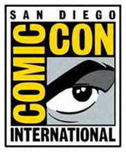 Comic Con International logo. Visit us at table D8